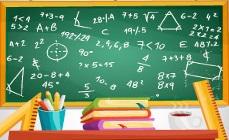 Pizarrón con anotaciones referente a educación en presupuesto