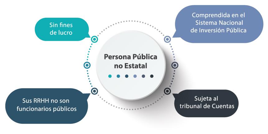 Infografía que describe las características de las Personas Públicas no Estatales